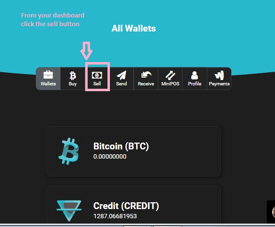 Guide for selling credit coin on Terrabit exchange