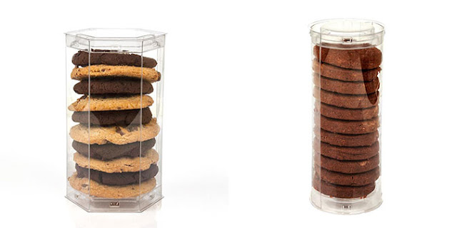 Crystal CLear Pop-Up Tubes for packaging Cookies