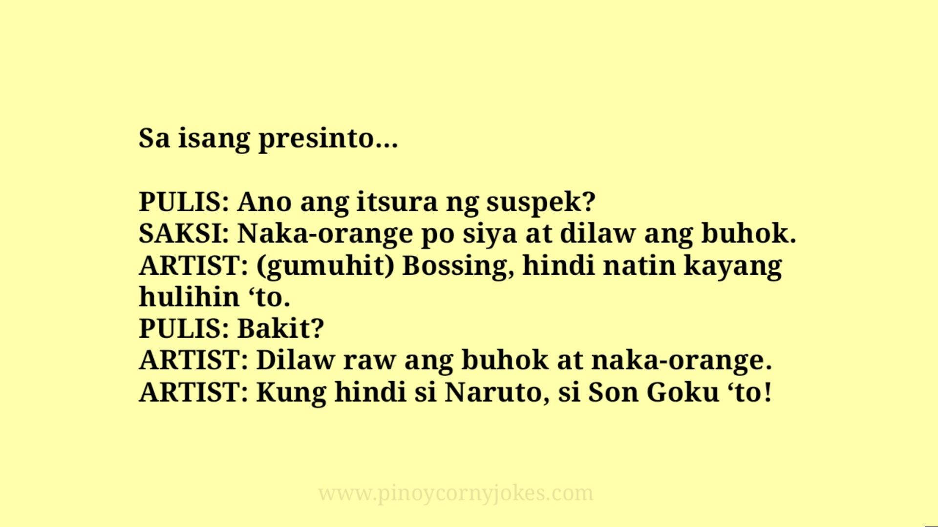 son goku best pinoy jokes pulis 2021
