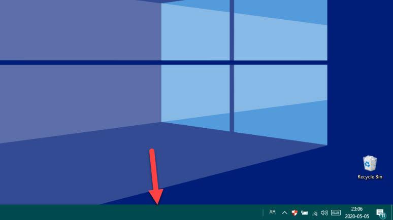 كيفية اخفاء شريط المهام بشكل القائي في ويندوز 10