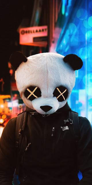 HD Wallpaper Guy with Panda mask