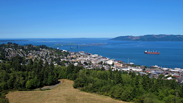 Astoria seen from the top of the Astoria Column...