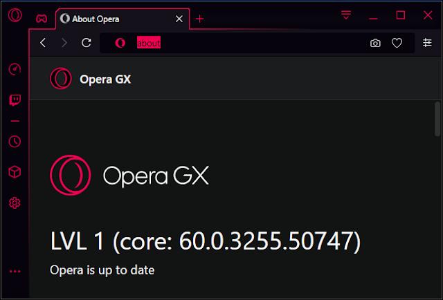 أوبرا GX المستوى 1 رقم الإصدار