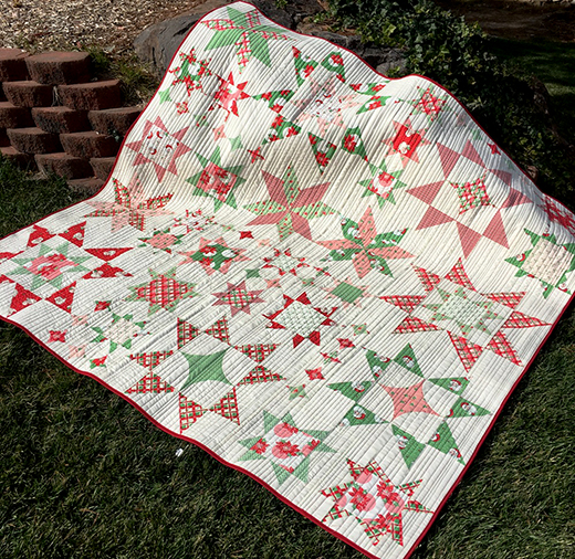 Seeing Stars Quilt Designed by Melissa Corry of Happy Quilting Melissa