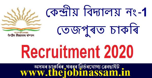 Kendriya Vidyalaya No. 1 Tezpur Recruitment 2020