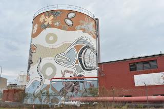 Darwin Street Art | East Arm Painted Water Tank