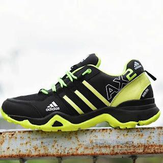 Sepatu Tracking Adidas AX2 Hitam Hijau [AX2-804]