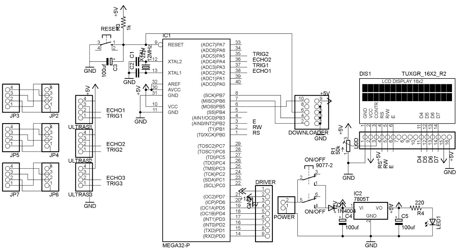 Teknik Elektro Robot Pengikut Dinding Berbasis Atmega16
