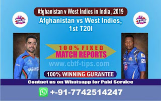 Who will win Today 1st T20, Match WI vs AFGH , CBTF Today Winner