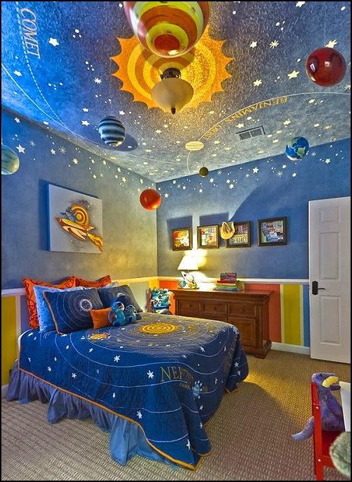 dormitorio temático universo