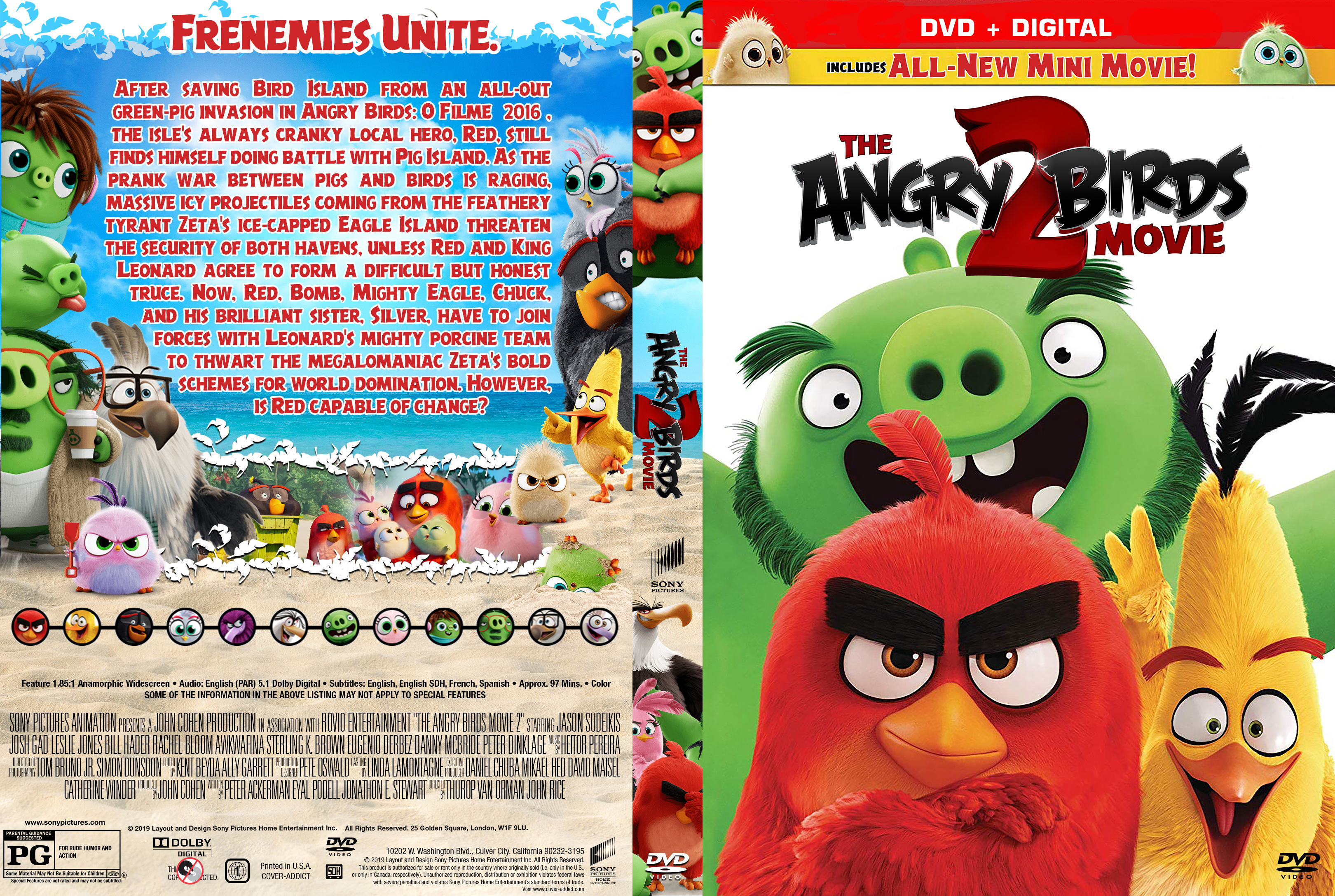 The Angry Birds Movie 2 Dvd Cover Cover Addict Free Dvd