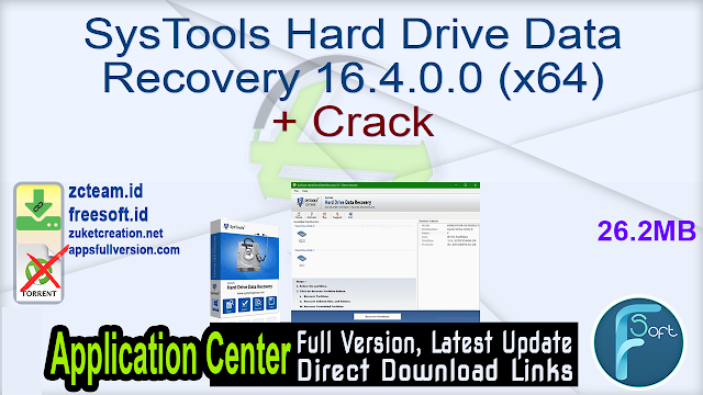 SysTools Hard Drive Data Recovery 16.4.0.0 (x64) + Crack_ ZcTeam.id