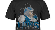 Detroit Lions Junk Food Disney Mickey QB T-Shirt
