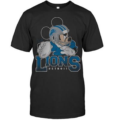 Detroit Lions Junk Food Disney Mickey QB T-Shirts