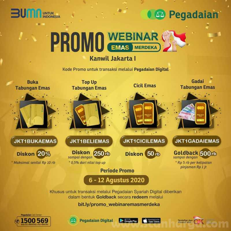 Promo Pegadaian Webinar Emas Merdeka Periode 6 - 12 Agustus 2020 1