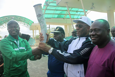 Bayelsa Deputy Gov Receives Sports Festival Torch...Advocates Revival of Inter-School Sports Competition To Foster Peace, Unity