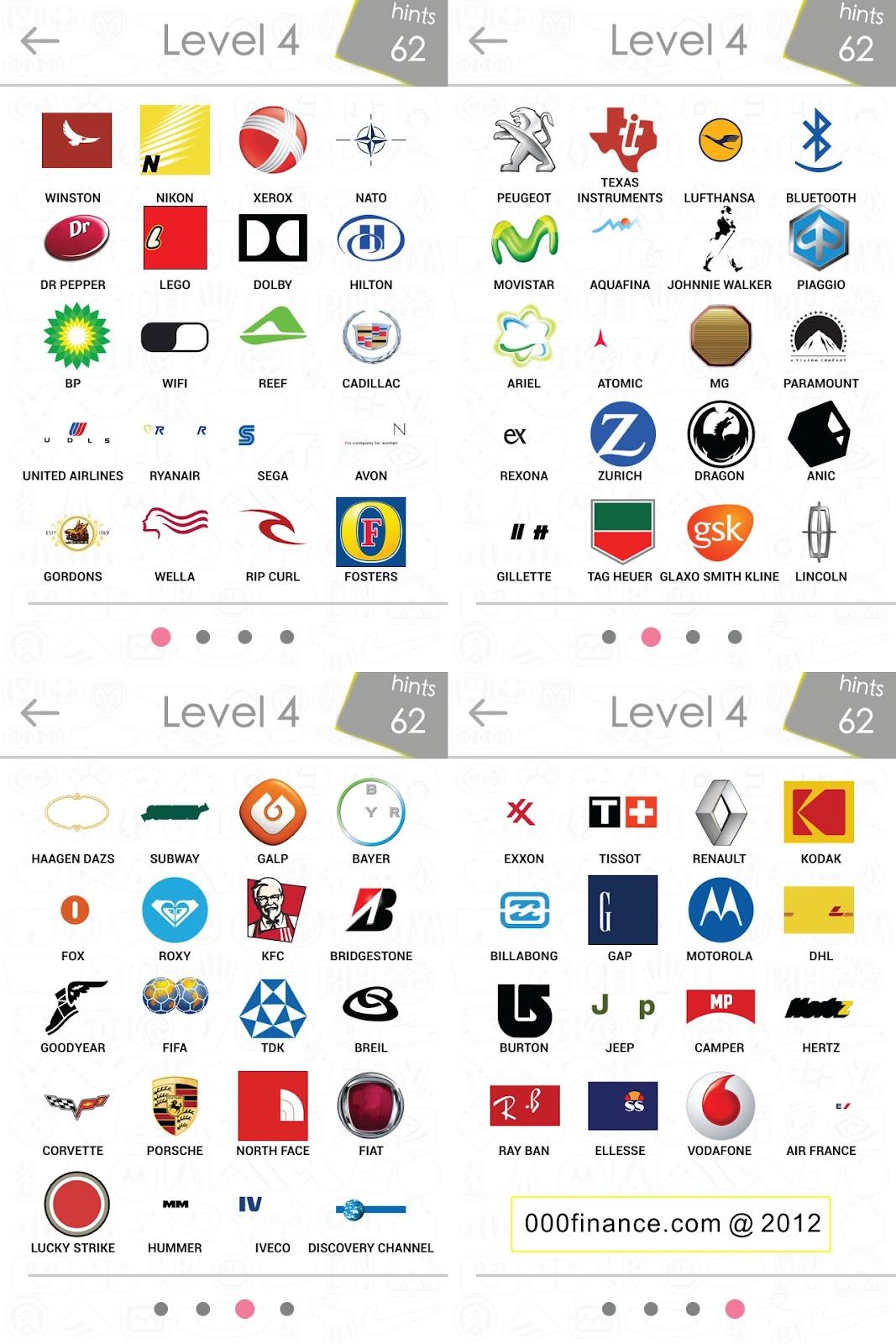 logo quiz 4 level answers