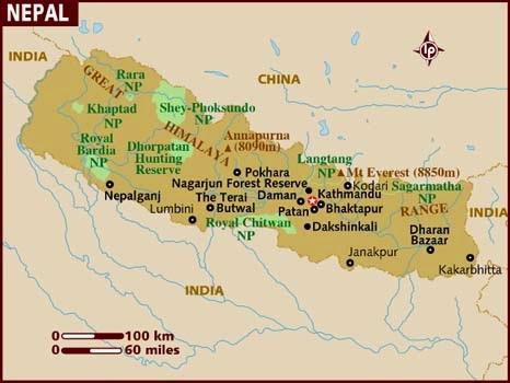 Peta Negara Nepal
