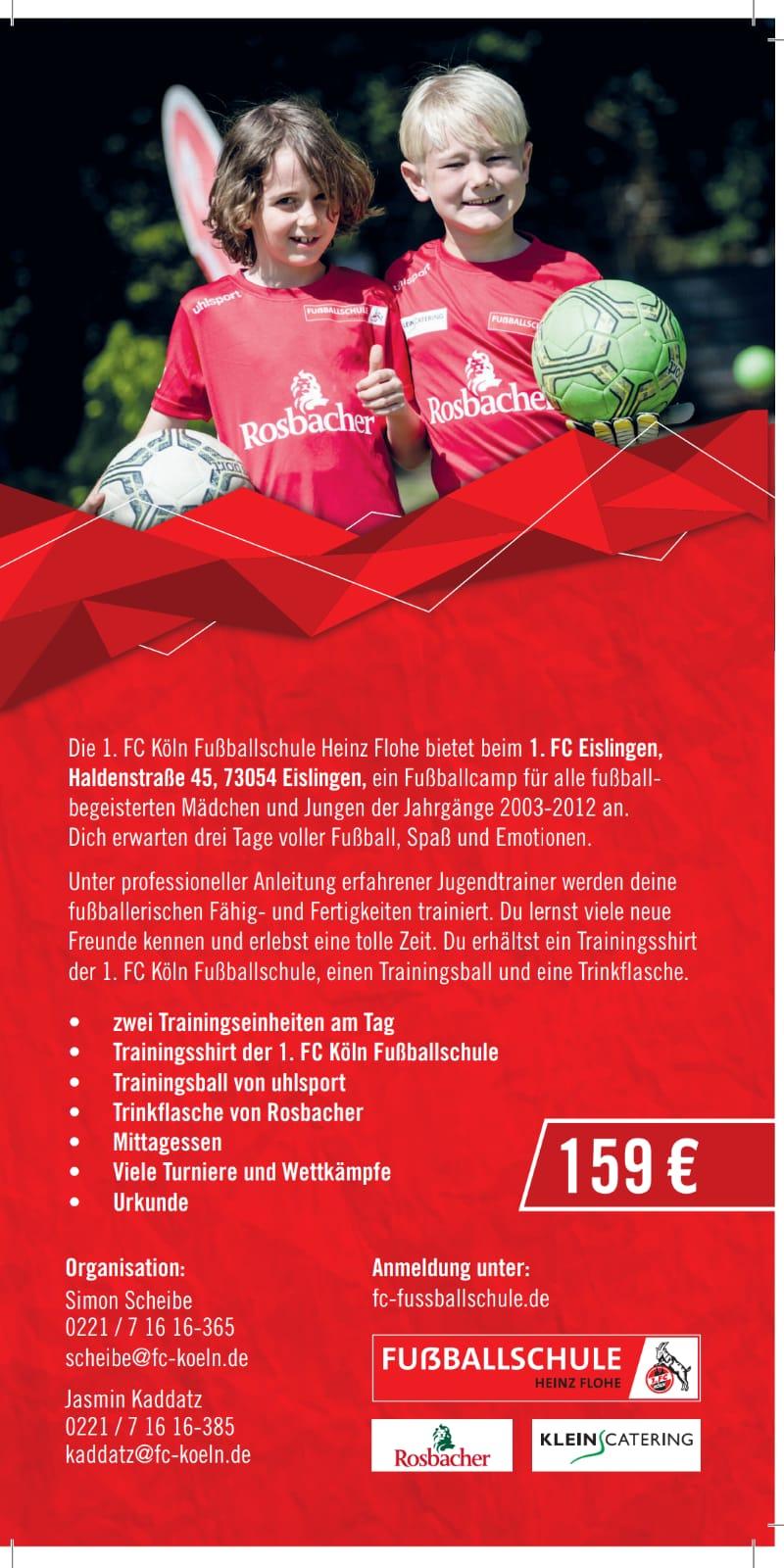 News Rund Um Den 1 Fc Eislingen 1 Fc Koln Zu Gast In Eislingen
