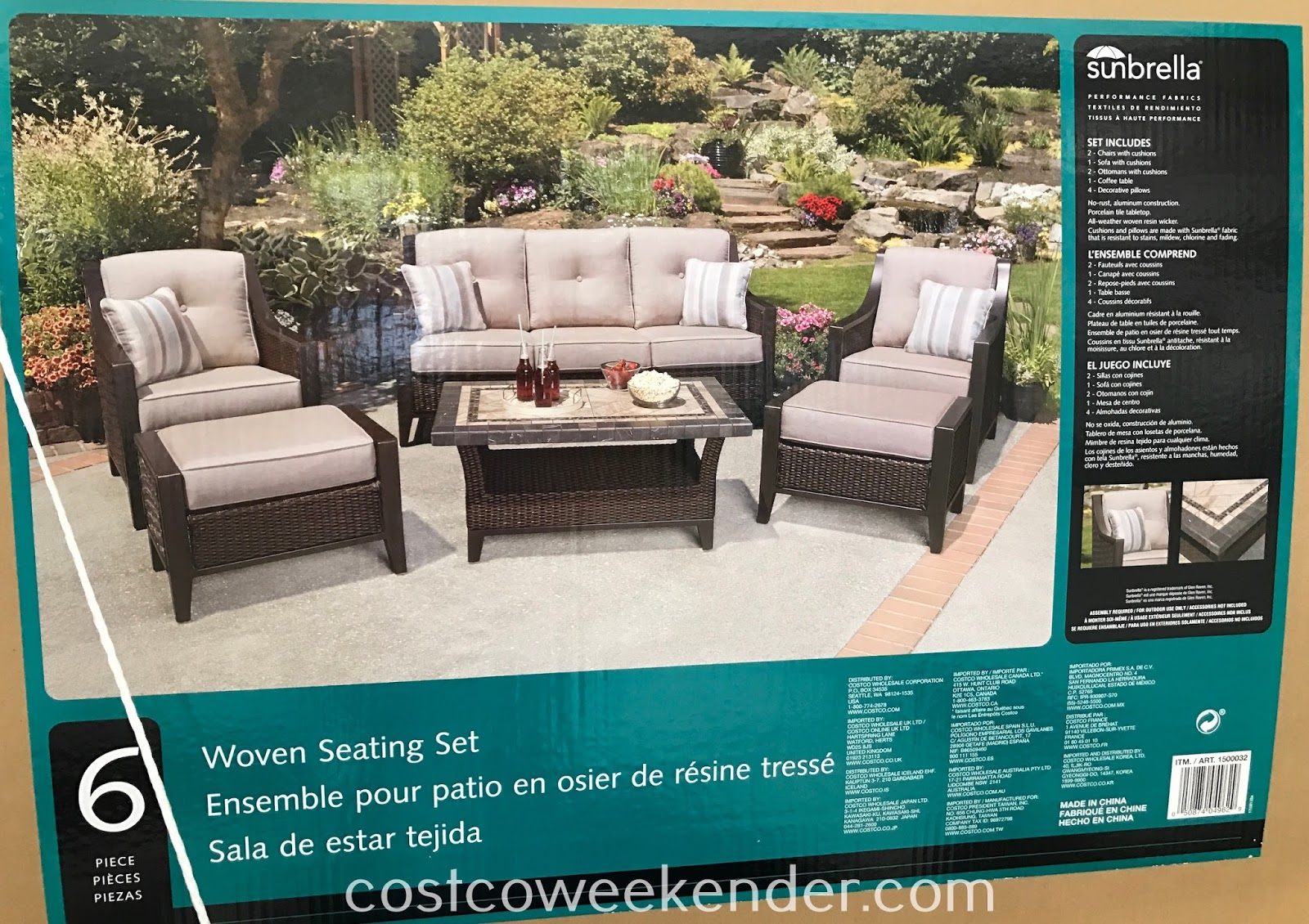 Agio 6-piece Woven Deep Seating Set: perfect for a backyard barbecue