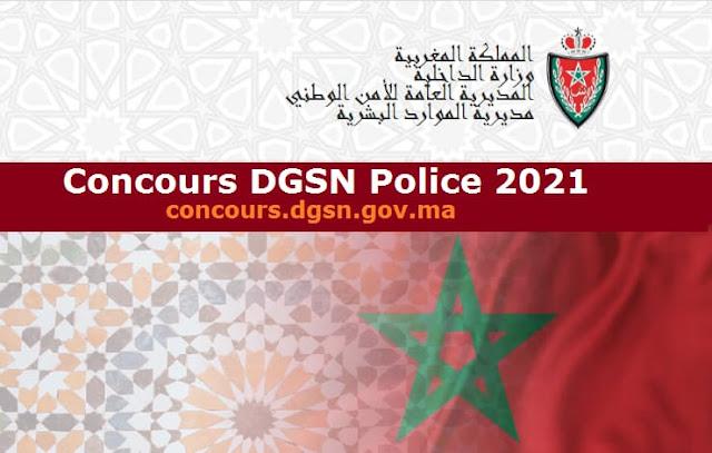 Concours DGSN Police 2021 – Recrutement 8119 Postes