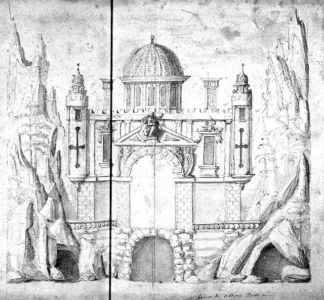 Inigo Jones' design for Oberon's Palace from The Masque of Oberon (1611)
