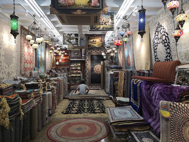 carpet shop at Arab Street
