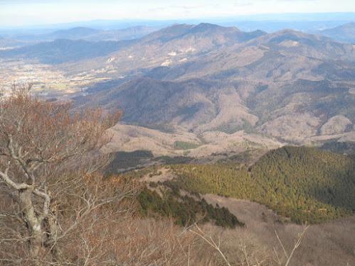 加波山方面の眺め