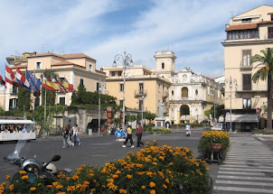 Sorrento's main square, Piazza Tasso, normally sees large crowds gather to see in the New Year