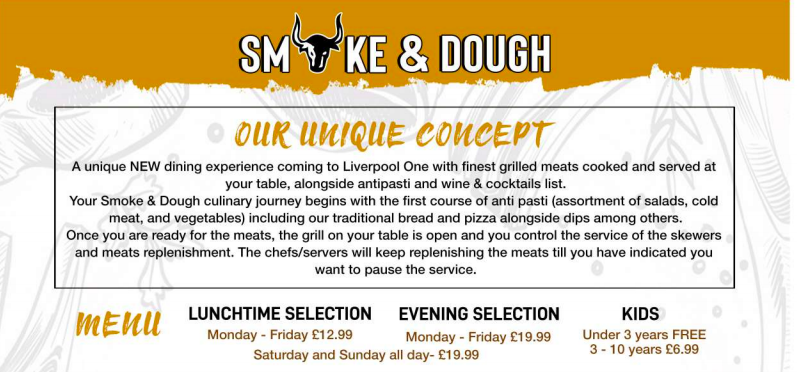 A Guide to Visiting Liverpool Christmas Markets & Lights  - Liverpool One Smoke and Dough Restaurant  menu