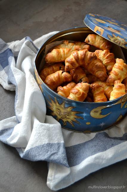 Recette facile mini croissants au chocolat - muffinzlover.blogspot.fr