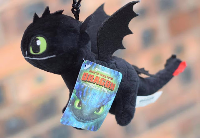 How to Train Your Dragon: The Hidden World  - Toothless plush bag tag