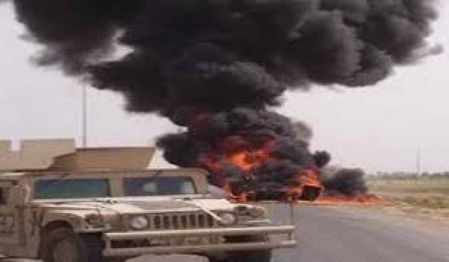 استهداف عجلة تابعة للحشد الشعبي بعبوة ناسفة شمال محافظة بابل