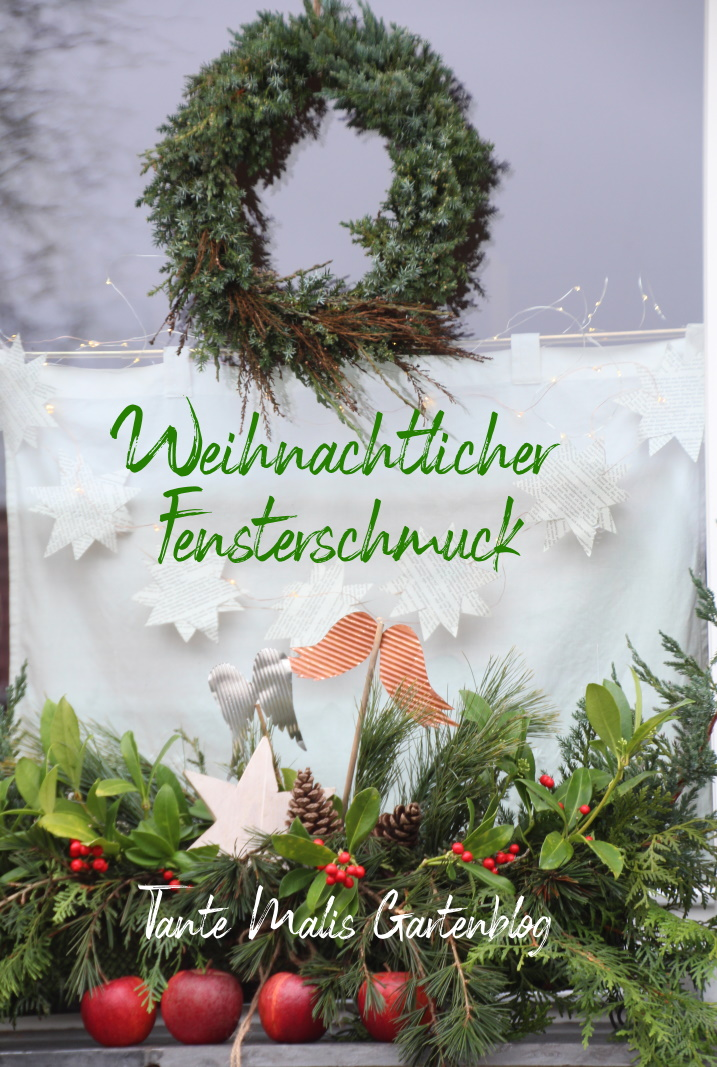 Natürliche Weihnachtsdeko für die Fensterbank