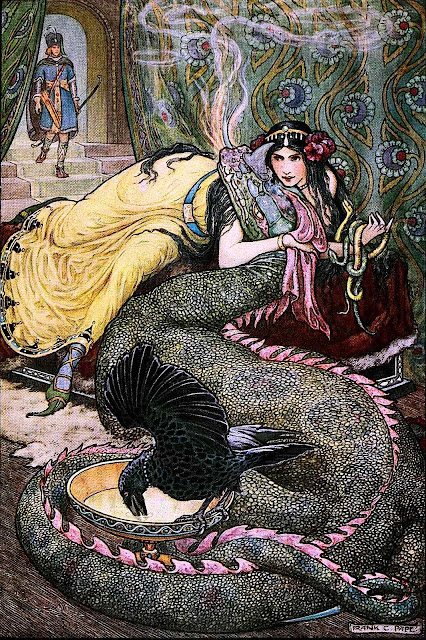 Frank C. Pape illustration of dragon