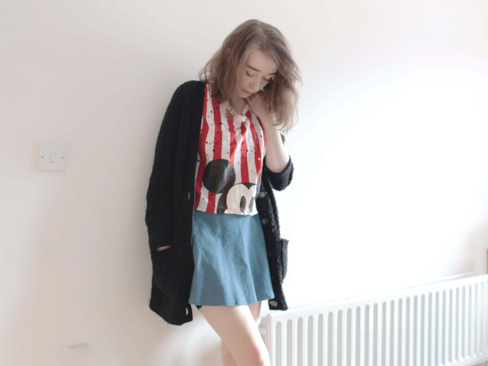 transitional outfit inspiration cute cartoon trend