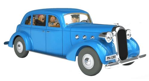 la voiture de la castafiore 1:24 le sceptre d'ottokar, les voitures de tintín 1/24e, Les voitures de Tintín 1/24 hachette, tintin collection voitures 1/24, tintin collection voitures 1/24 hachette, collection tintin voitures miniatures, tintin collection voitures hachette