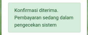 Notifikasi Proses Deposit Otomatis