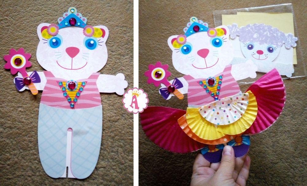 Бумажные куклы и одежда для них Alex Craft Toys Pops 2 Tutu Dolls