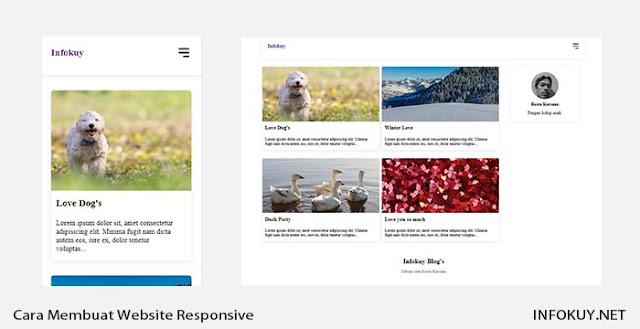 Cara Membuat Website Responsive Dengan HTML dan CSS