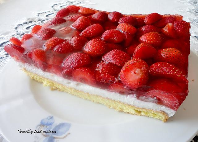 Dietetyczne ciasto z owocami