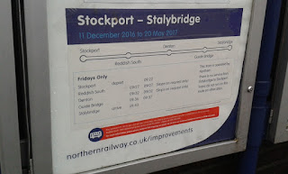 Timetable at Reddish South railway station