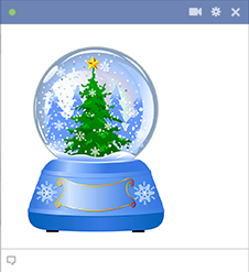 Snow Globe Icon for Facebook