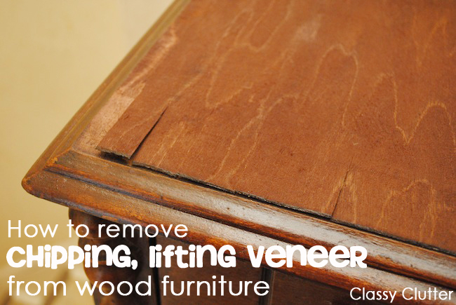 How To Remove Veneer From Table Top