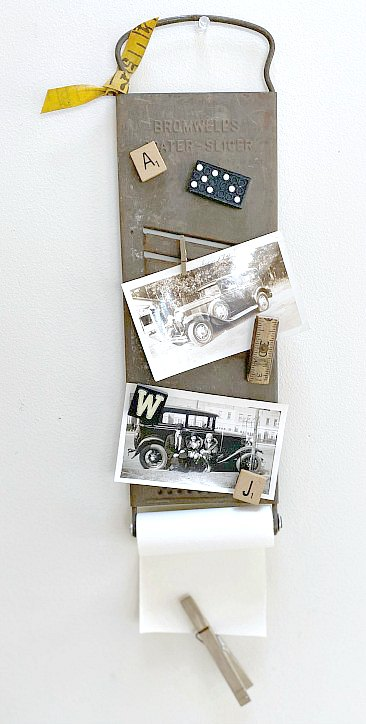Vintage Cheese Grater Photo Display