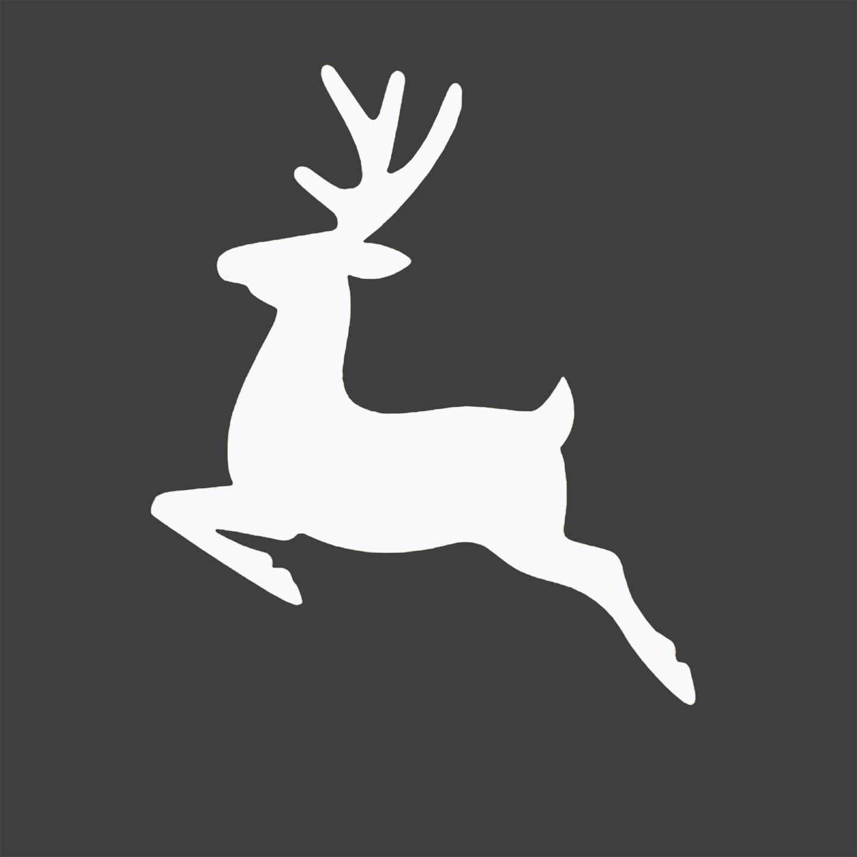 Free Reindeer Silhouette Christmas Printable Entirely