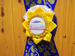 Philippine Leis in red, blue, white and yellow color palette for the Philippine SME Business Expo 2019
