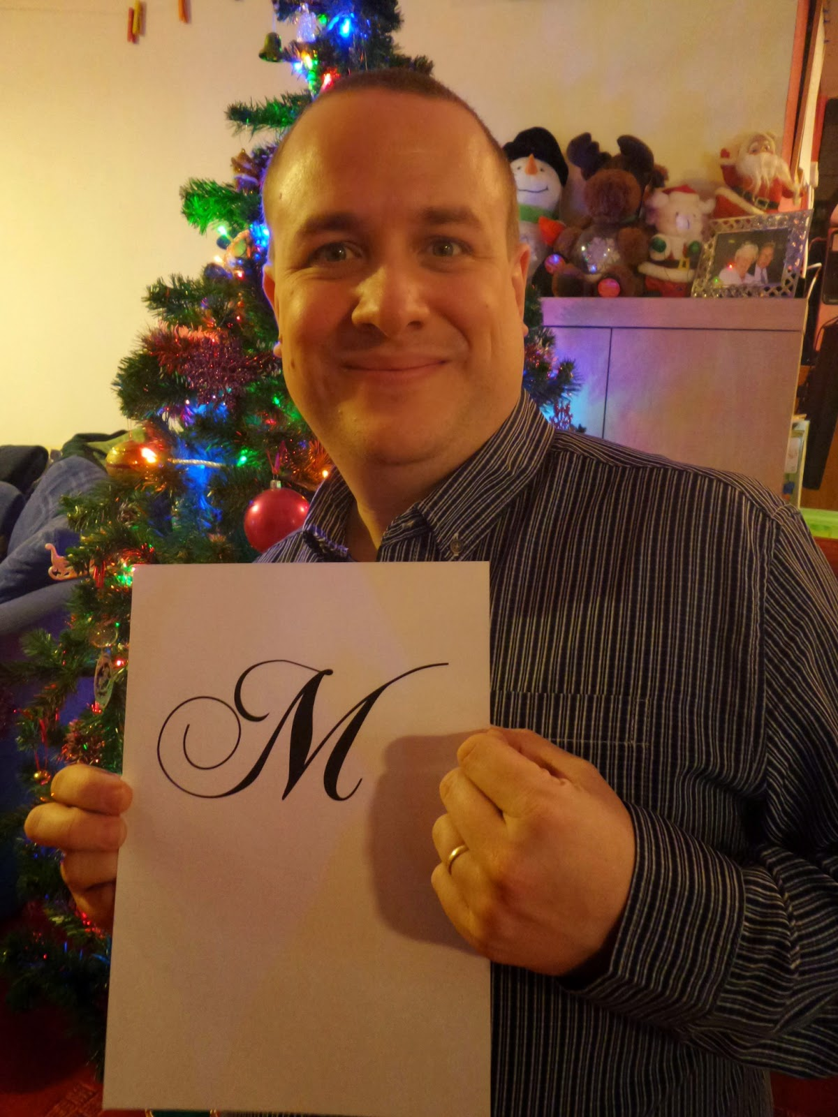 Daddy with the letter M
