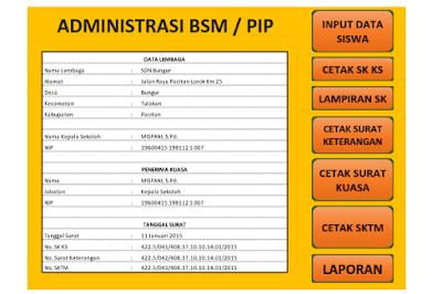 Administrasi Laporan BSM PIP 2017