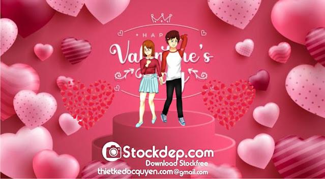Happy valentine's day background cute free